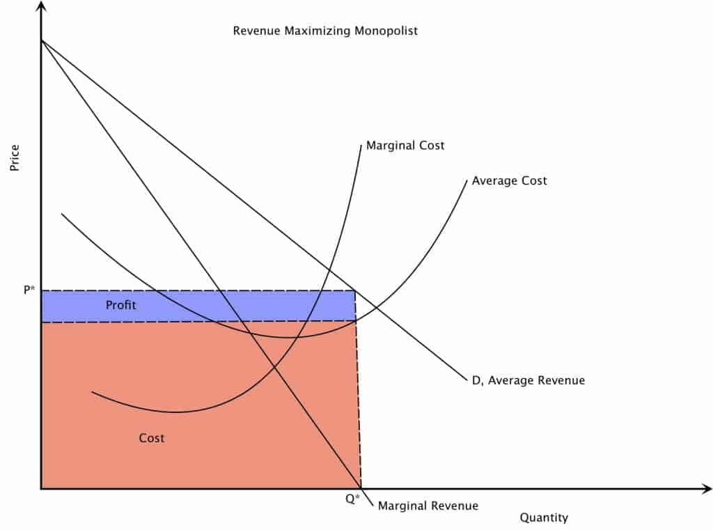 Revenue Maximizing Monopoly Market Structure Graph