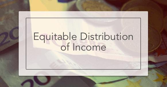 Equitable Distribution of Income