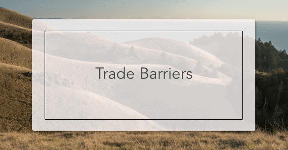 Trade Barriers   Intelligent Economist
