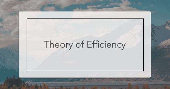 theory of efficiency