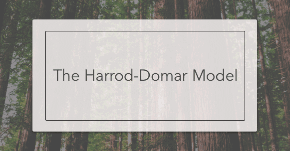 harrod domar The harrod–domar model following the publication of keynes's general theory in 1936, some economists sought to dynamize keynes's static short-run theory in order to investigate.