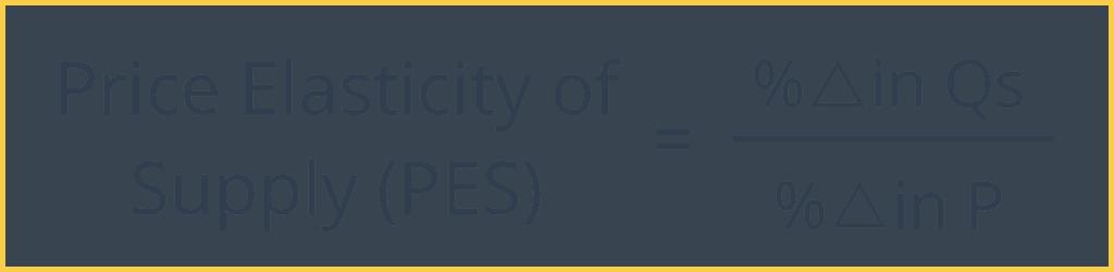 price elasticity of supply formula