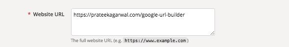 Website URL