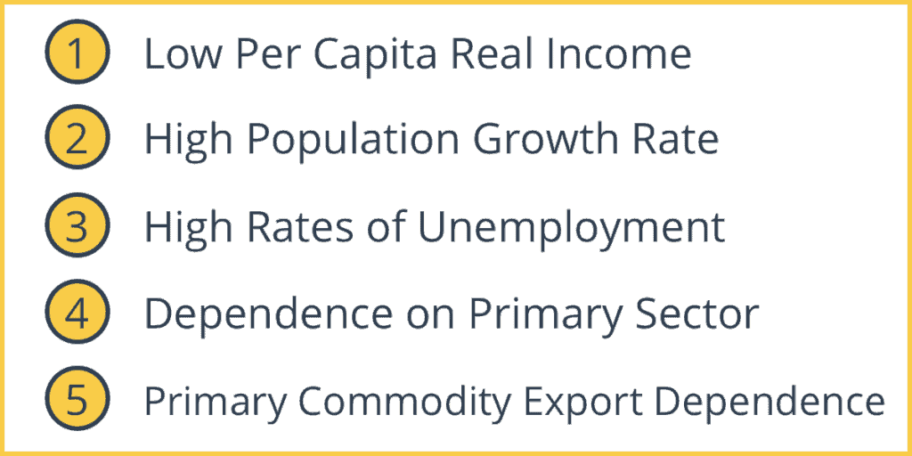 Common Characteristics of Developing Economies