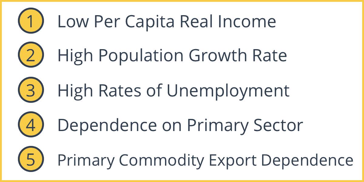 Characteristics Of Developing Economies Intelligent Economist